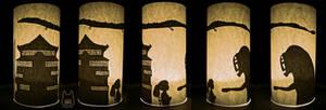Spirited Away Silhouette Cylinder (Tutorial)