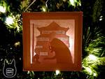 Spirited Away Paper Lightbox Ornament (Tutorial)