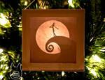 Nightmare Before Christmas Paper Lightbox Ornament