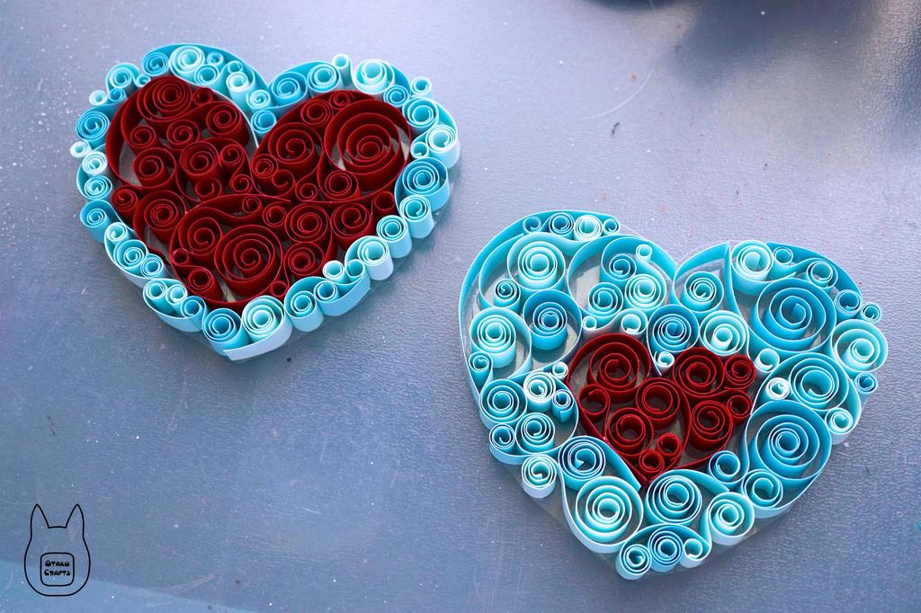 Zelda Paper Quilled Heart Pieces (Tutorial) by studioofmm
