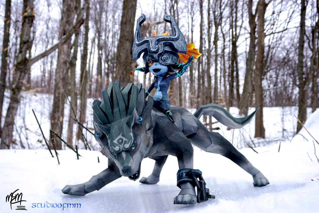 Wolf Link and Midna Papercraft