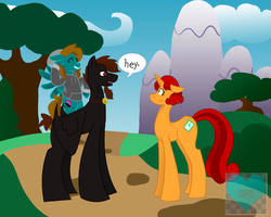 When Two Tall Ponies Meet