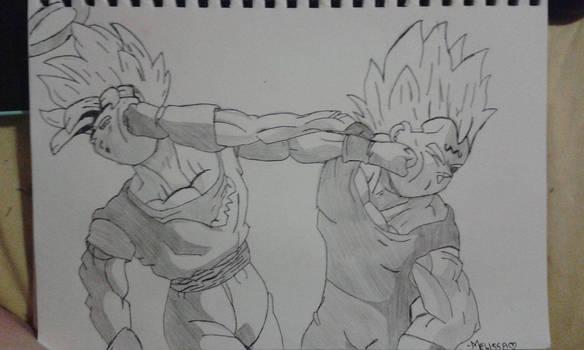 Dragon Ball Z -Goku vs. Majin Vegeta