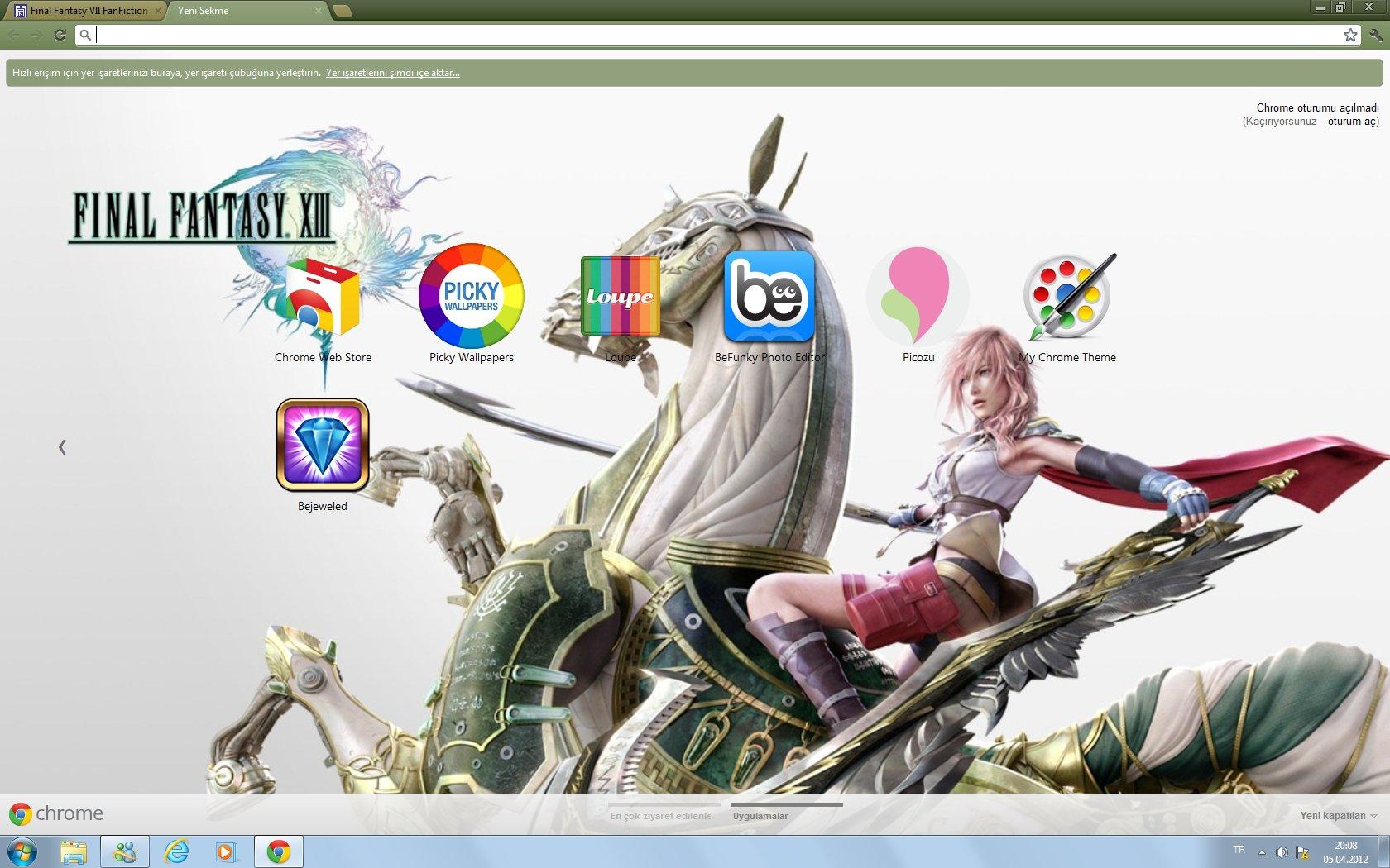 Google themes editor -  My Final Fantasy Xiii Google Chrome Theme By Clotigirl