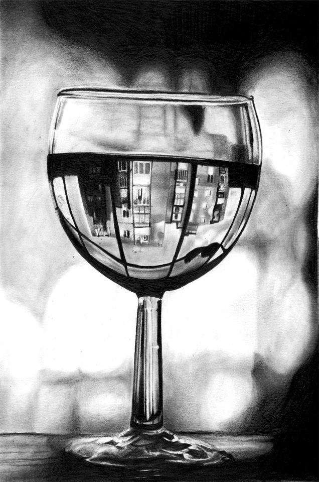 glass of wine by Shimda
