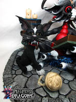 2016 Black Potion Dragon Cat detail by MacLeodDragons