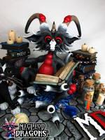 2016 Black Potion Dragon Close-up by MacLeodDragons