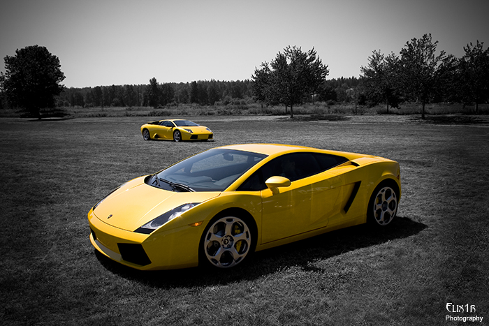 Two Lambos by Elix1r