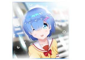 Rem taking a selfie by usantik