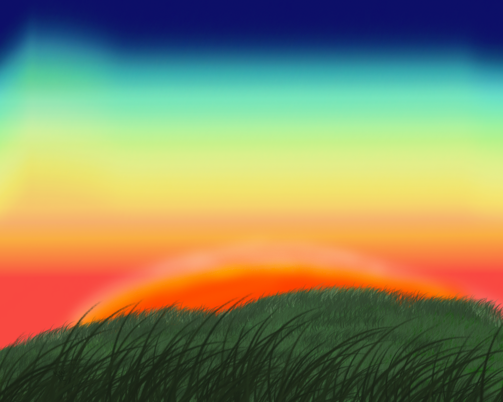 sunset green background - photo #15