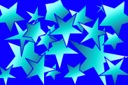 Turquoise Stars by saprox