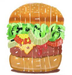 hamburger by artcoholicz