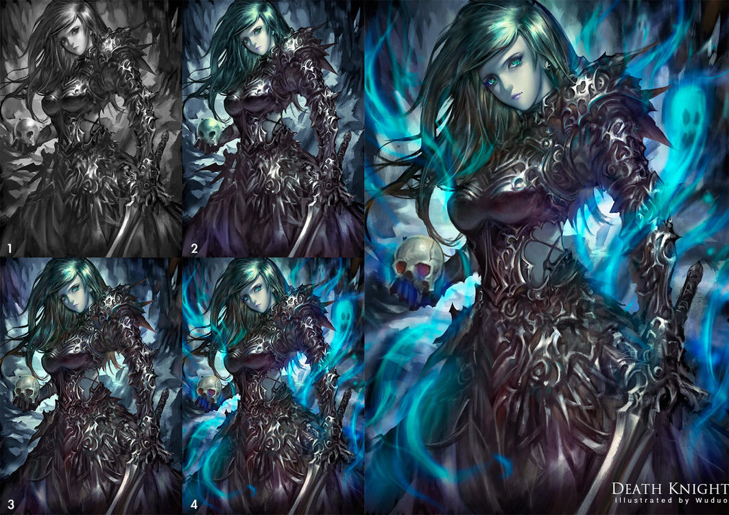 Death Knight (with process) by WUDUO