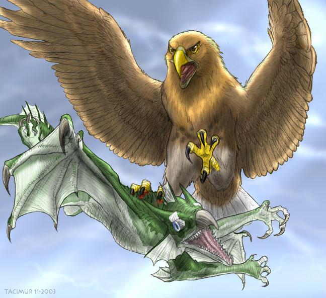 Eagle Vs Dragon Drawing eagle and dragon by Ta...