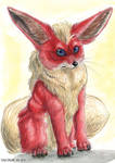Flareon the fire fennec