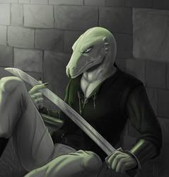 sulky lizard