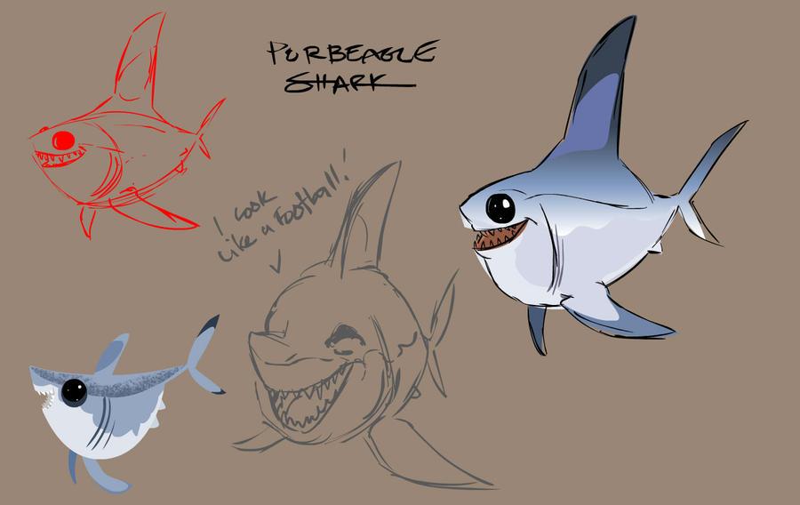 Porbeagle Shark by ShaneCorn