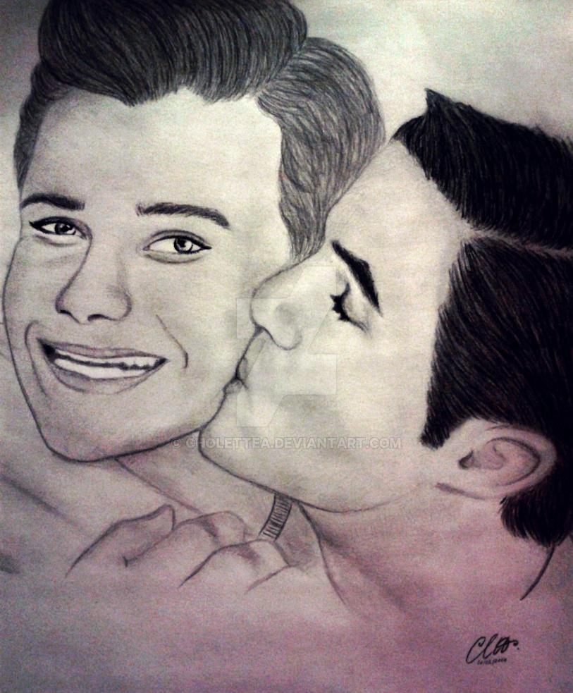 Glee Kurt Blaine Kiss: Kurt And Blaine, Glee) By CholetteA