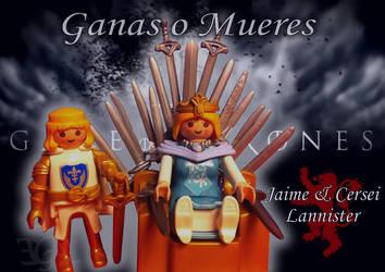 Trono de Hierro Playmobil - Jaime y Cersei by etgovac