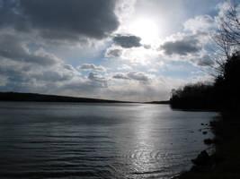 Lake Nocakmixon. Sun_clouds by OL27