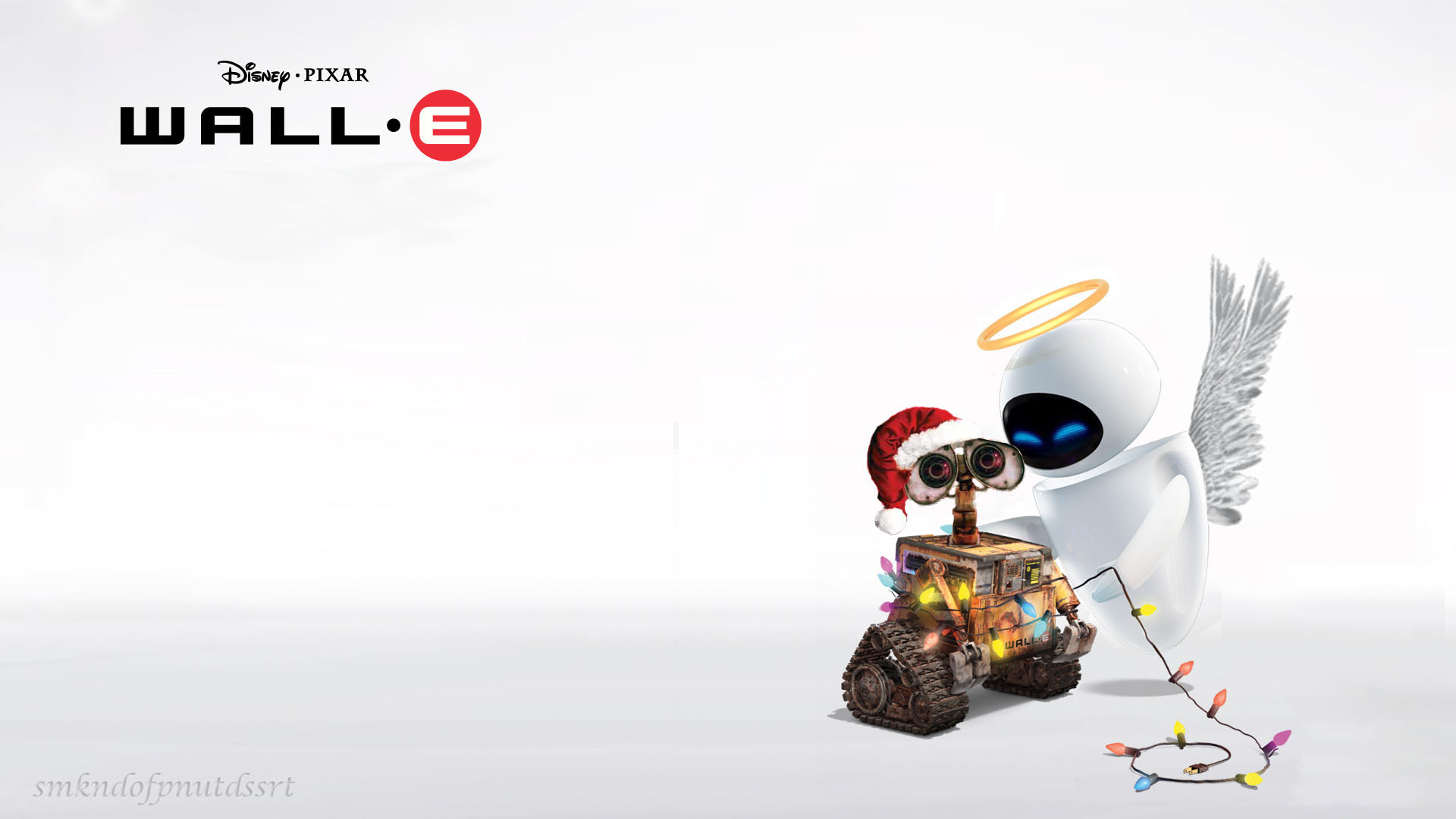 WALL-E Christmas Wallpaper by smkndofpnutdssrt