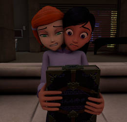 Gwen Tennyson and Violet Parr conjoined by Jello-dorf