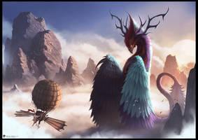 Giant Bird Creature by draken4o
