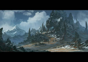 Bleeding Skull Mountain by draken4o