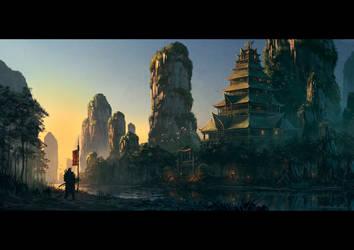 Jade Lion Temple by draken4o