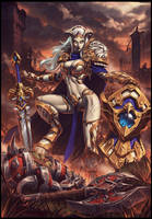 Priskah the Unstoppable Force by draken4o