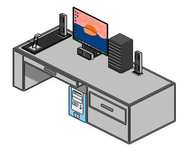 Pixel Art - Computer Desk by SashaTsiaparis on DeviantArt