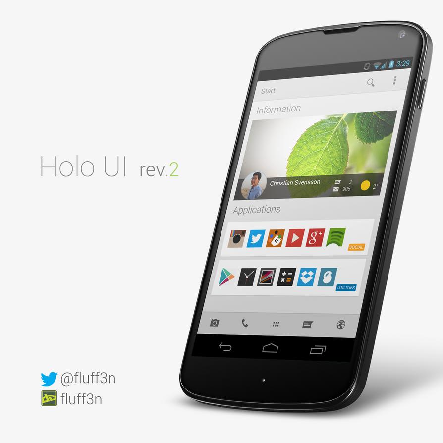Holo UI rev.2 by fluff3N