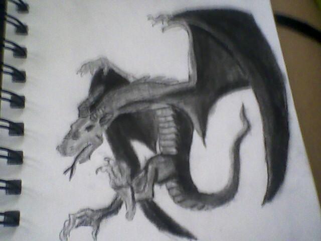 my dragon, raaaaarrrh, haha by Jessicathemasta