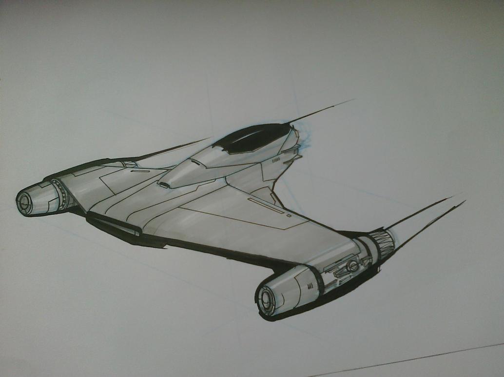 Fighter Ship by VolcanicDom