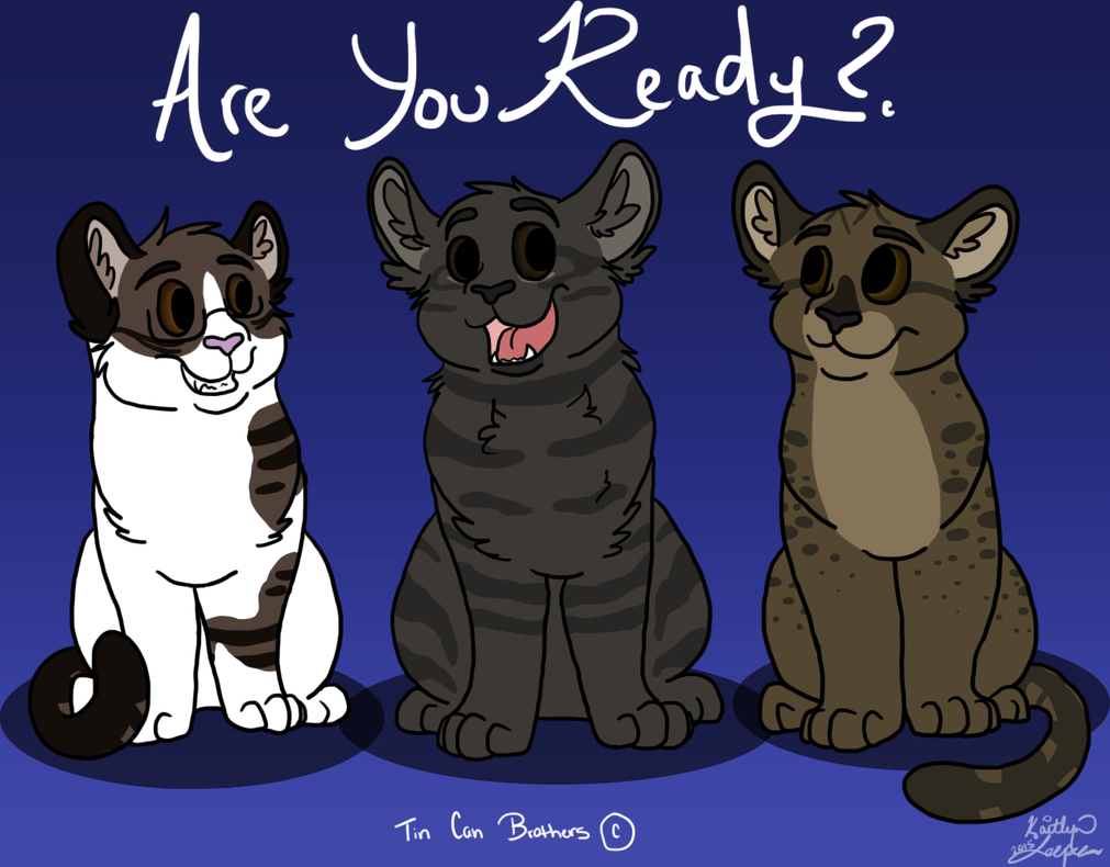 Tom Cat Siblings by BanditKat