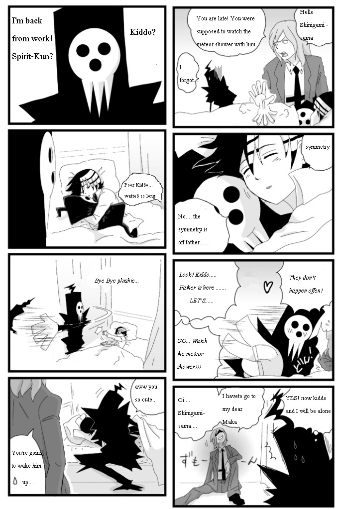 Death the Kid and Shinigami-sama by TammytheShinigami