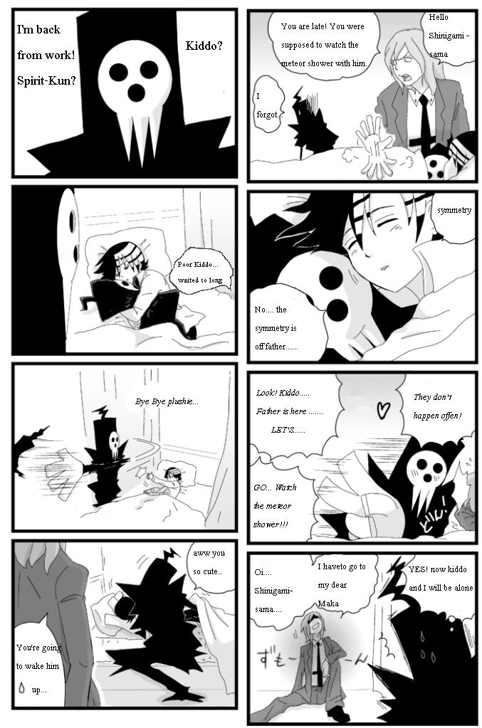 Death the Kid and Shinigami-sama by TammytheShinigami