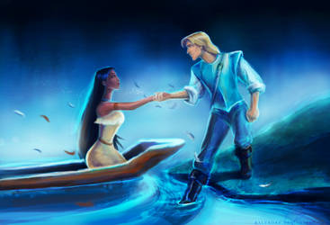 [mouse art 2012] Pocahontas and John Smith by Ralenore