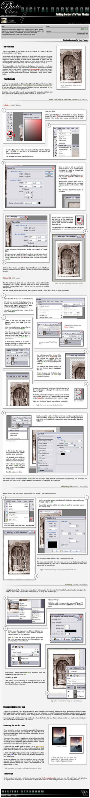 Adding Borders to your Photos