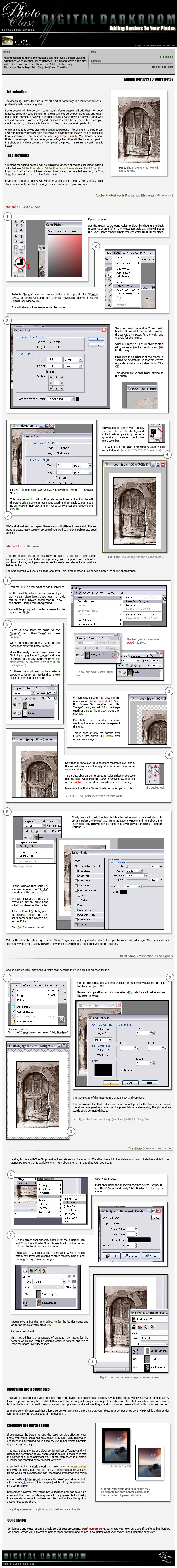 Adding Borders to your Photos by photo-class