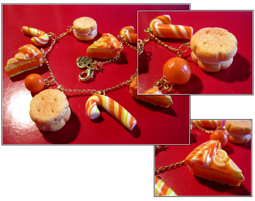 Orange cake bracelet by Contugeo