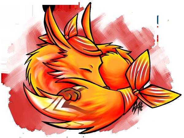 Sleepy little Fox by Contugeo