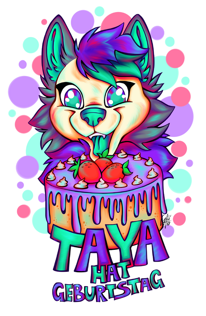 Commission Taya Birthday Badge by Contugeo