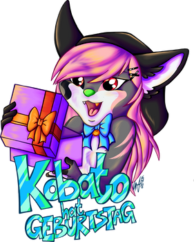 Commission Kobato Birthday Badge