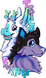 Commission Trico and Fuaran Badge by Contugeo