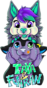 Commission Badge Taya and Fuaran