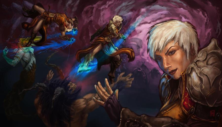 Monk - Diablo III art ...