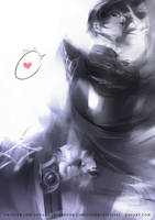 Bayonetta Sketch by JisuArt