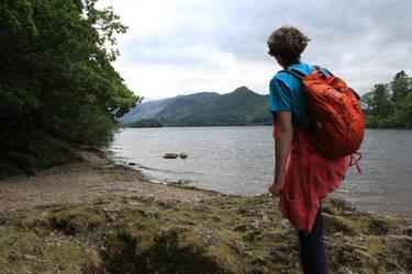 A Wanderer at Derwent Water by Mr-Earwig