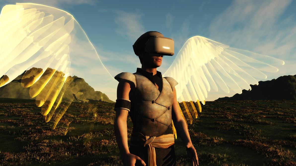 Angel of virtual reality by LG-Nimbus